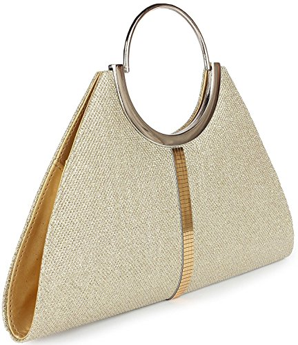10. ADISA CL005 gold formal women/girls clutch