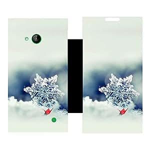 Skintice Designer Flip Cover with Vinyl wrap-around for Nokia Lumia 730, Design - Snow