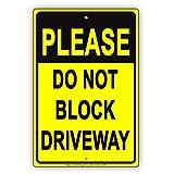 Bitte nicht Block Auffahrt Private No Parking Vorsicht Achtung Hinweis Aluminium Schild Blechschilder Vintage Dose Teller Schilder dekorativer Note Metall Dose 12x 18