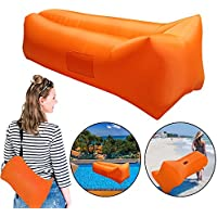 Inflatable Lounger, Sleeping Air Bed Chair, Resistant & Portable Blow Up Lounge Chair for Indoor Outdoor Camping Beach(Suit for Most of Adult)