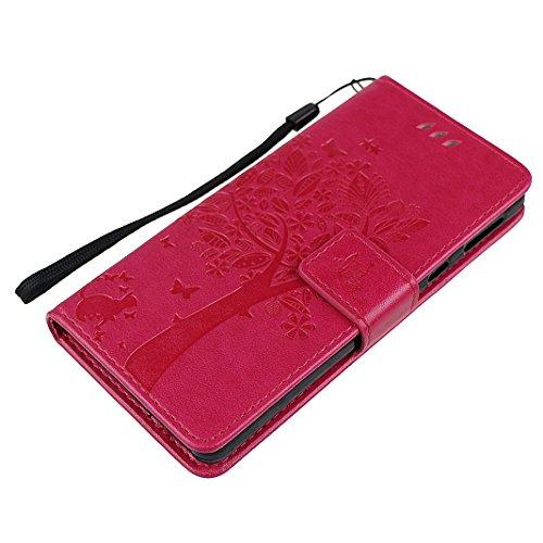 Sony E5 Custodia Pelle Cover Case HuaForCity® Portafogli Custodia in Pelle PU Copertina con Slot per schede Magnetica Flip Chiusura Stile del Libro Supporto Funzione Bumper Caso for iphone Sony E5 Cus Oro Rosa