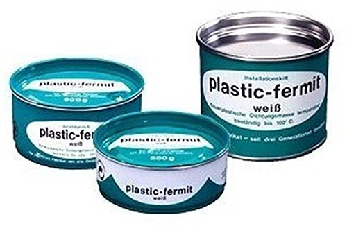 Plastic-Fermit weiß, Dauerplastische Dichtungsmasse, temperaturbeständig bis über 100°C (500g Dose)