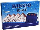 Juego - Bingo Slot I Selezionatore Numeri Automatico I Tombola Da Gioco Originale I Schede Segnapunti Incluse I Casino Quality I Sfide Tra Amici - Blu