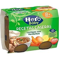 Hero Baby - Babyrecetas Lentejas Verduritas 380 gr - Pack de 3 (Total 1140 grams)