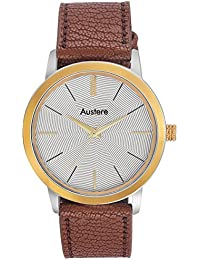 Austere Embassy Analog White Dial Men's Watch - Meb-0109GS