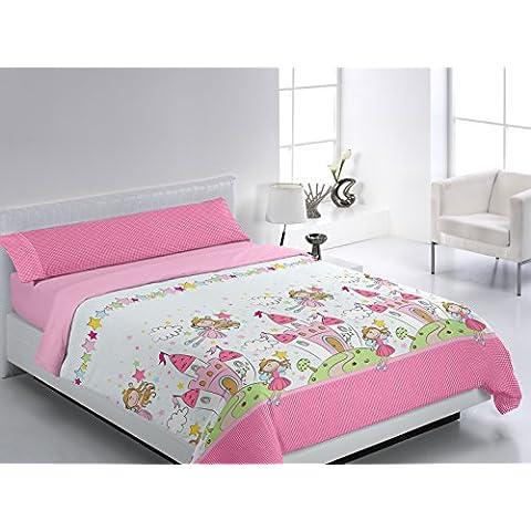 Glam Princesas - Ropa de cama para cama de 90 cm