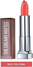 Maybelline New York Color Sensational Creamy Matte, 635 Rock the Coral, 3.9g