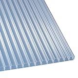 Polycarbonat Stegplatten Hohlkammerplatten klar 3000 x 980 x 16 mm (33,28 EUR/qm)