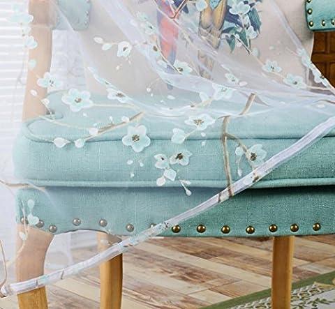 Zycshang haute qualité romantique mode Prunier Vitrage solide Couleur de la fenêtre Panneaux Porte Drape
