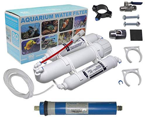 Aquarium Umkehrosmoseanlage WASSERFILTER Germany - mobiles Komplettset mit Directflow und 75GPD Membran