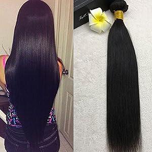 Full Shine 20 Pouce/50cm Bundles Br¨¦siliens Remy Straight Hair Tissage Pour Cheveux Noirs Pour les Femmes Noires 100g Trame Cheveux Naturels