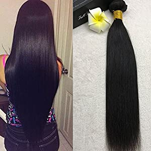 Full Shine 16 Pouce/40cm Tissage Bresiliens Lisse 100g Vierges Cheveux 7A Cheap Brazilian Virgin Hair Couleur Naturelle Straight Human Extensions Remy 100% Hair Weaves