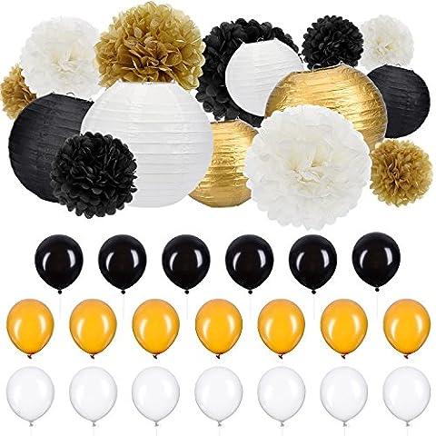 Outus 35 Pièces Kit de Décoration de Fête Papier Tissu