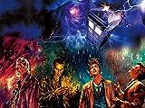 Dr Who - Flying Tardis. Eyecandy 3D Holografisches Poster Fan Art Ungerahmter Kunstdruck