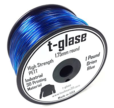 3D Prima 10133 Taulman Print Filament, T-Glase, PETT, 1.75 mm, Orion Blue