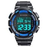 IG-Invictus Mode Herren Digital LED Analog Quarz Alarm Datum Sport sockenuhr HONHX Elektronische Uhr Blau 71-727