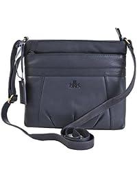 Siena Aspen léger bandoulière épaule Voyage Sac à main sac en diverses couleurs - 9879 - noir, M