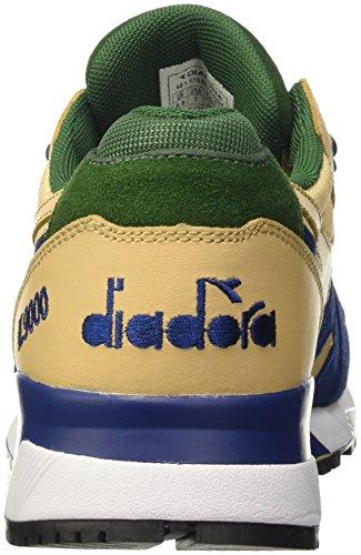 Diadora N9000 Double L, Scarpe Low-Top Unisex – Adulto Beige (Beige Juta/Blu Estate/Vd Fogli)