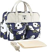 حقيبة كتف متعددة الاستخدامات عصرية ومريحة للامهات، خفيفة الوزن وبسعة كبيرة ومقاومة للماء للاستخدام الخارجي وتخ