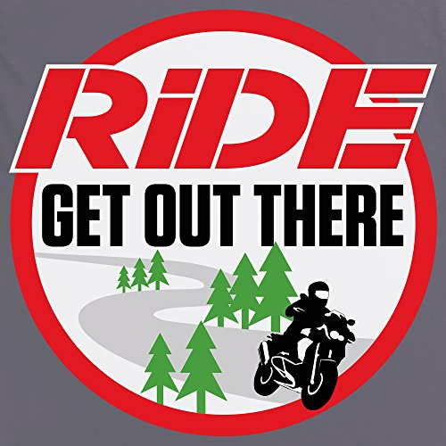 Official RiDE Magazine Large White Logo T-Shirt, Herren Anthrazit