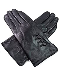 Ladies Womens New Super Soft Premium Luxary Genuine Bow Leather Gloves Fully Lined Winter Warm Everyday Driving