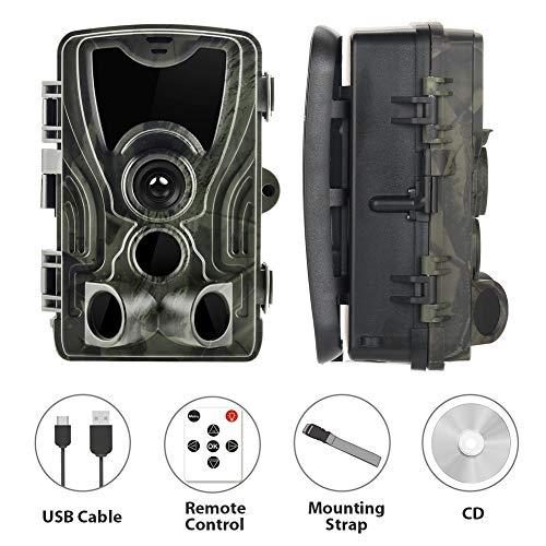 GUOYIHUA Jagd-Kamera der IP65-wild lebenden Tiere 16MP 1080P Infrarotnachtsicht-Versuchs-Kamera 0.3s Triggergeschwindigkeit Wasserdichte Hinterkamera inländisches Wertpapier -