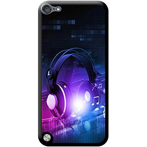 Kopfhörer auf DJ-Deck Turntables Hartschalenhülle Telefonhülle zum Aufstecken für Apple iPod Touch 5th Generation