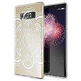 NALIA Coque Protection Compatible avec Samsung Galaxy Note 8, Motif Housse Silicone Portable Premium Case Back-Cover, Fine Souple Gel Slim Anti-Choc Bumper Mince Etui, Designs:Pattern Flowers
