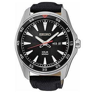 Seiko SNE393P2 –  Reloj Analógico de Cuarzo para Hombre con Correa de Tela