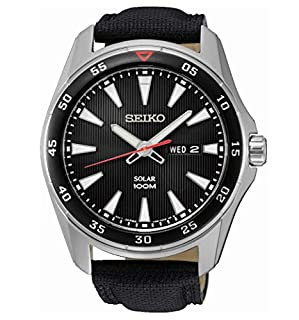 Seiko Montre Homme Analogique Automatique avec Bracelet en Tissu - SNE393P2 (B014DWJM7M) | Amazon price tracker / tracking, Amazon price history charts, Amazon price watches, Amazon price drop alerts