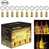 Flaschenlicht,Led Flaschenlicht, Wein Flaschen Lichter, 10 Stück lichterketten für flaschen, 20LEDs flaschenlichterkette,LED Lichterketten Stimmungslichter Weinflasche Mini Kupferdraht