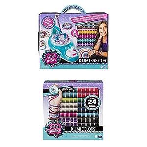 Cool Maker - 6038301 - Kumi Kreator Freundschaftsarmband-Flechtstudio inklusive Cool Maker - 6046622 - KumiColors Fashion-Nachfüll-Set - Jewels + Cools