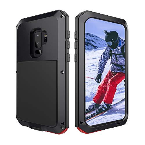 Beeasy Samsung Galaxy S9 Handyhülle,360 Grad Fallschutz Outdoor Hybrid Rüstung Schlagfest Stoßfest Handy Case Schutzhülle Robust Metall Stürzen Stößen Heavy Duty Hülle,Schwarz