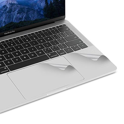 lention Palm Rest Cover Skin mit Trackpad Schutz für MacBook Pro (13 Zoll, 2016-2019, A1706/A1708/A1989/A2159, 2/4 Thunderbolt 3 Ports), Vinyl Schutzaufkleber (Silber)