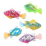 BRZM Partyrequisiten 1 Stück Wasserdichte Kinder Bad Schwimmen Fisch Spielzeug Blinklicht Badewanne Baby Badezeit Spielzeug Zufällig