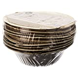 Adaaya Farms - Simply Urbane Natural Palm Leaf Round Bowls - 5 Inches - Pack Of 10 - Suitable For Parties And Events - Eco Friendly/Bio Degradable/Compostable