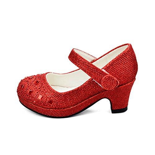 der Gute Qualität Neueste Paillette Design Schuhe Prinzessin Partei Schuhe Sandalen für Mädchen Kostüm Party Geburtstag ()
