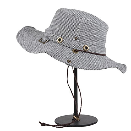 Chapellerie été Chapeau De Soleil En Plein Air Le Coréen La Mode Chapeau Pliable Grand à Larges Bords Voyage Grey