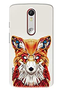 Omnam Coloful Wolf Printed Designer Back Cover Case For Motorola Moto X Force
