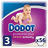 Dodot Pañales Protection Plus Activity, Talla 3, para Bebes de 6-10 kg - 56 Pañales