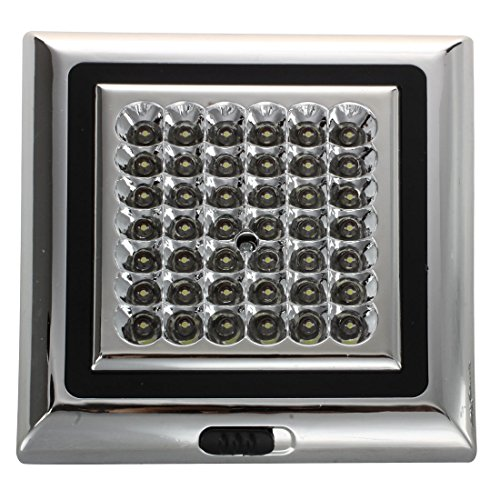 SODIAL(R) 42-LED Brillant Blanc Voiture Auto Plafond Dome Interieur Light Lampe DC 12V 5W
