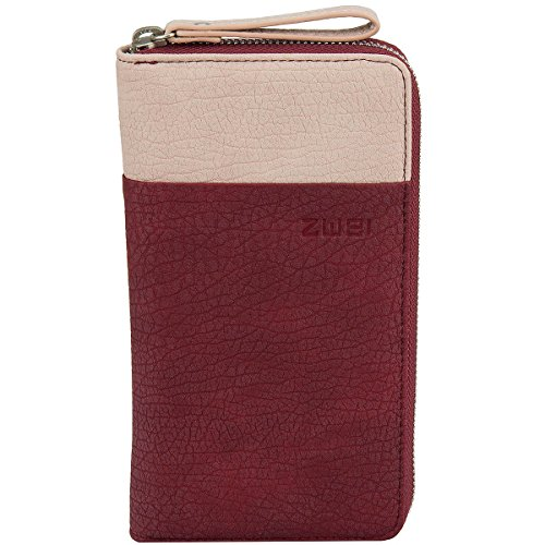 Zwei Eva EV2 Reißverschluss Geldbörse Portemonnaie Geldbeutel Brieftasche,blood