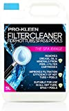 Pro-Kleen 5L Hot Tub, Pool & Spa Filter Cartridge Cleaner - 10 Treatments - Improves Efficiency of Filter - Deeply Cleans and Removes Oils, Grease and Minerals