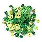 Diseño de botón Botones Galore plástico Duradero, Verde