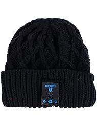 ROMANTIC BEAR Chapeau Mou Chaud Bluetooth Sans Fil Smart Cap Casque Microphone Haut-Parleur