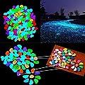 100Stk. Leuchtsteine Farbe Leuchtkiesel leuchtende Deko Kiesel Steine Garten von Yiwu Qiaonai E-Commerce Co., Ltd - Du und dein Garten