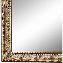 Spiegel Wandspiegel Bad Flur Holz Vintage Retro Bari Gold Braun 4,4 NEU