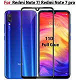 JGD PRODUCTS full edge to edge 11D (Next gen. of 5D,6D) tempered glass screen protector for Redmi Note 7/ Note 7 pro (2019) with free installation cleaning wipes (Launch Offer)