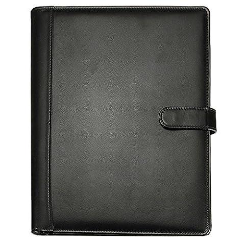 Organiseur A4 - Dossier en cuir - TOOGOO (R)Noir A4