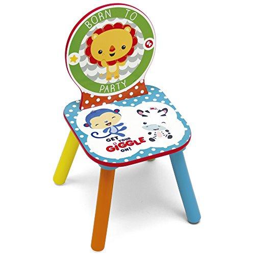 Fisher-Price Chaise pour Enfants, Bois, Multicolore, 27 x 27 x 52 cm
